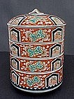 Imari Four-Tier Jyubako Stacking Dishes
