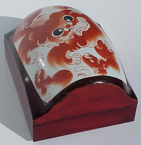 Wooden Box with Old Chinese Ceramic
