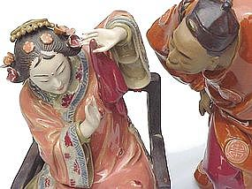 Beautiful Chinese Ceramic Dolls, Newly Weds
