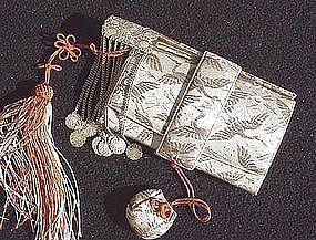 Old Japanese Tissue Holder w/Kanzashi