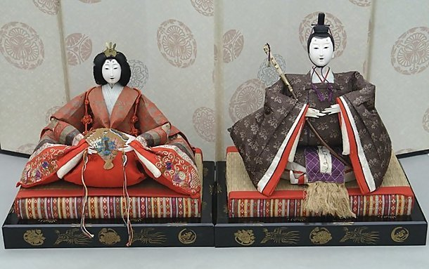 Old Japanese Hina Dolls, Large Emperor and Empress Doll