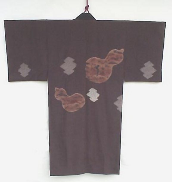 Beautiful Tie-dye Work in Man's Old Kimono, Wall Decor