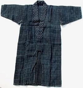 Old Hemp Child Hanten Kimono
