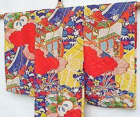Baby Girl's Padded Silk Kimono