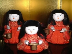Cute Japanese Kimekomi Hina Doll, Jyokan Dolls