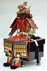 Antique Samurai's Armor Set for Japanese Boy's Day