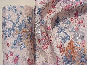 Beautiful Old Yuzen Kimono Silk - full roll