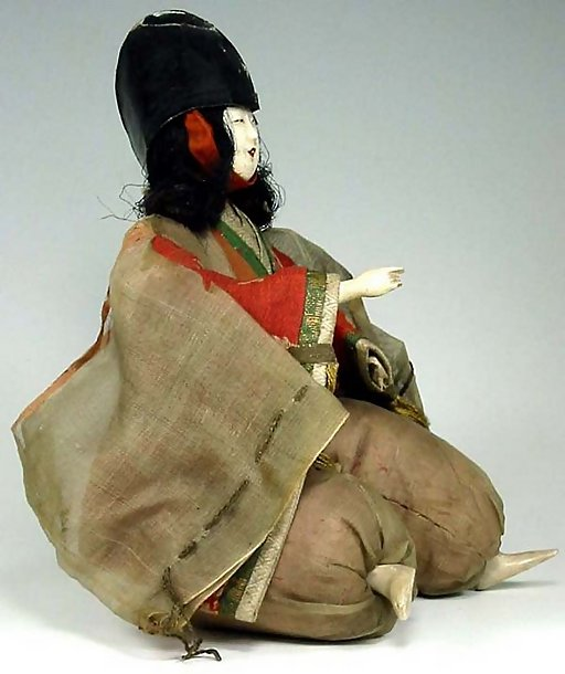 Japanese Antique Servant Hina Doll, Edo Ningyo