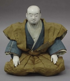 Antique Japanese Samurai doll, Edo Daimyo in Kamishimo