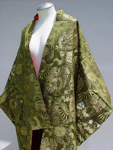 Elegant Antique Japanese Wedding Kimono Uchikake Gown