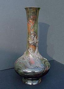 Dragon in Japanese Bronze Vase