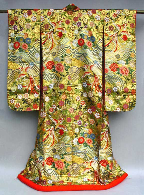 Gold Japanese Uchikake Wedding Gown by Yumi Katsura