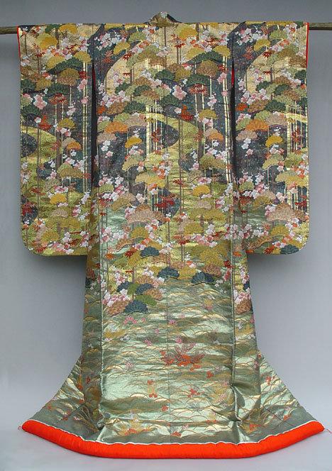Japanese Kimono Wedding Gown designed by Hanae Mori