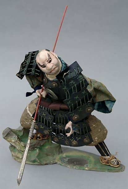 Japanese Warrior Large Takeda Doll, Benkei