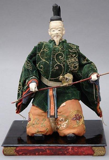 Unique Japanese Edo Zuishin Dolls in Kabuki Costume