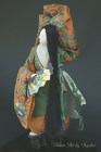 Antique Takeda Ningyo, Noh Okina Dancer Female Doll