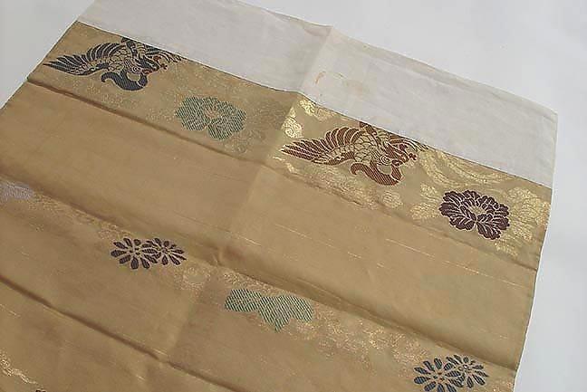 Silk Temple Cloth, uchishiki, Phoenix in Clouds