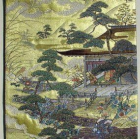 Gold Nishijin Obi,beautiful view of Kyoto