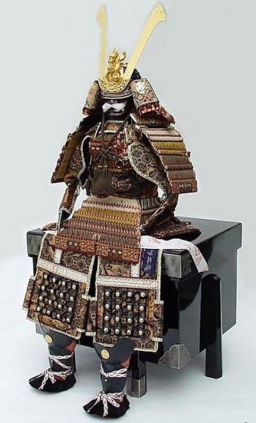 Japanese Boy's Day Samurai Yoroi Armor, Kabuto Helmet