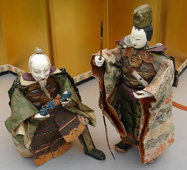 Unique Japanese Dolls Large Warrior Dolls Jingo Edo