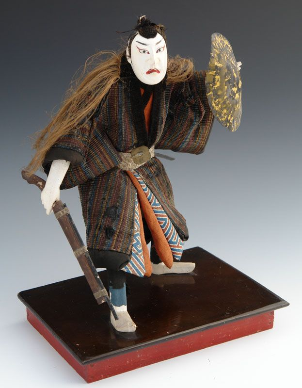 Japanese Theater Doll with Matchlock Gun, Chushingura 47 Ronin