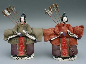 Unique Japanese Folk Hina Dolls, Imperial Guardsmen
