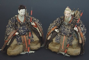 Antique Zuishin Japanese Hina Dolls