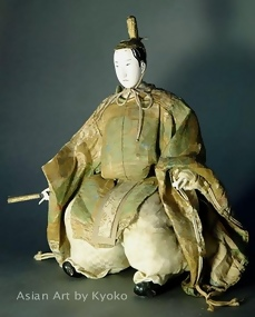 Antique Japanese Aristocrat Doll from Edo Period