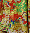 Japanese Wedding Gown with Pair of Mandarin Ducks
