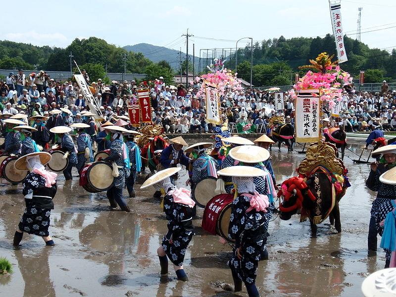 Japanese Ox Saddle, Hana-Taue Flower-Rice Planting