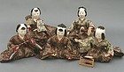 Old Japanese Hina Dolls, Cute Musician Ningyo