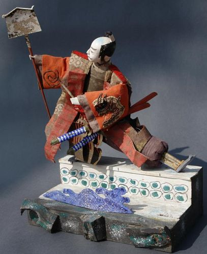 Award Winning Takeda Doll, Japanese Samurai Ningyo