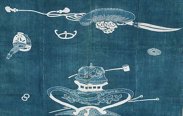 Antique Japanese Futon Bed Cover, Theme Tea Ceremony