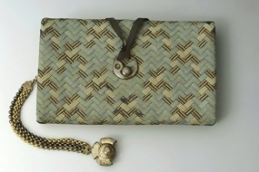Antique Japanese Sagemono Wallet in woven silk cords