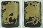 Large Japanese Antique Inro,  Ho-O Bird, Phoenix