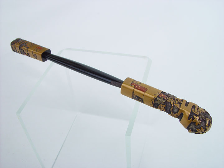 Japanese Antique Hairpin, Maki-e from The Tale of Genji