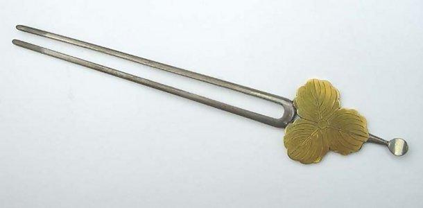 Japanese Antique Silver Kanzashi Hairpin: Family Crest
