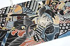 Antique Japanese Nobori Banner,  Samurai on Horse