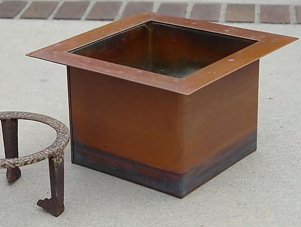 Copper Rodan Sunken Hearth, Chanoyu Japanese Tea Room