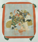 Japanese Antique Fukusa, Tsuzure-ori, Seven Lucky Gods