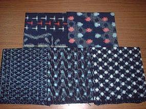 Old Japanese Textile 14, 5 Kasuri Pachworks