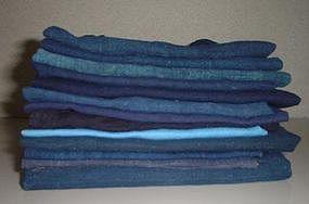 Old Japanese Textile,  Ai Blue Dye Patchwork