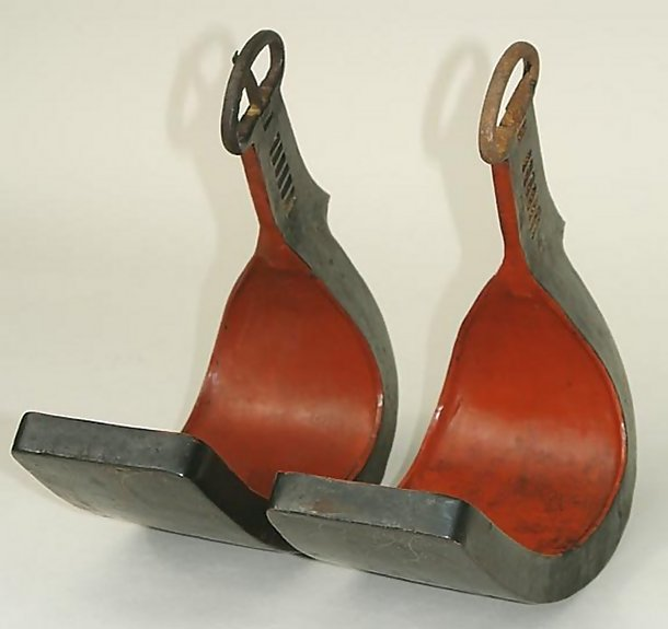 Japanese Antique Abumi (Stirrups) with Ni-o