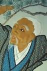Antique Japanese Fukusa, Noh Takasago on Wool