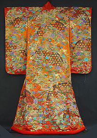 Japanese Wedding Gown, Uchikake, Amazing Embroidery