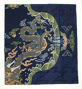 Antique Chinese Cloth, Imperial Court Dragon Robe