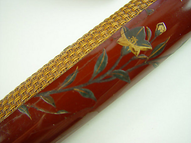 Antique Japanese Tobacco Pouch Agiro Lacquer Pipe Case