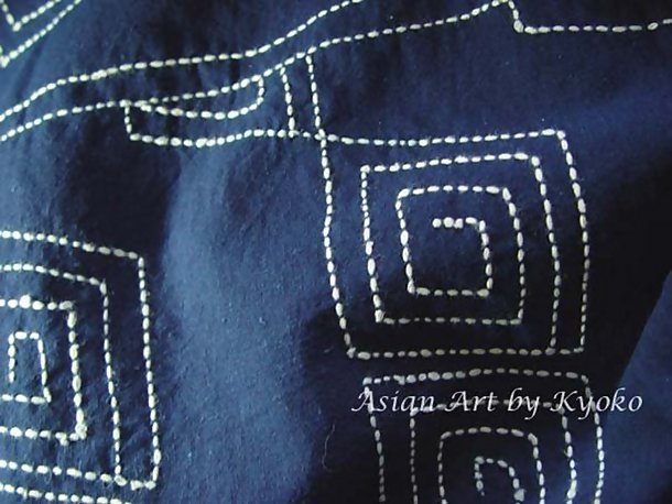Large Cotton Cloth, Geometric Designs, Sashiko Stitch