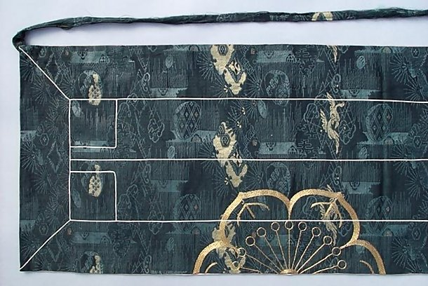 Antique Japanese Silk Kesa,  Priest's Robe, Ouhi #2