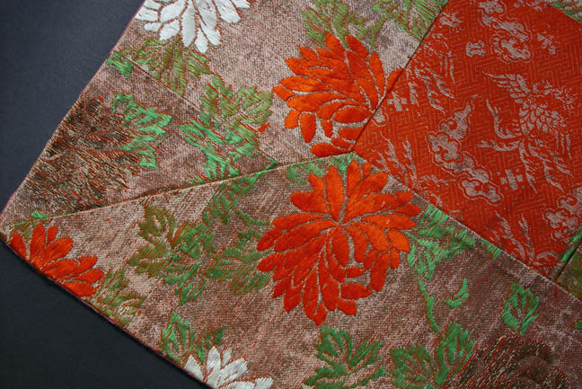 Kesa, Japanese Buddhist Priest's Robe, Chrysanthemum